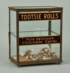 Original Tootsie Rolls Country Store Display Case