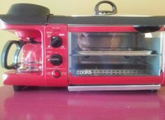 Cooks 3 IN 1 Breakfast Toaster Oven,Coffee Maker & Grill Camping RV Dorm Tent