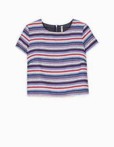 At Stradivarius you'll find 1 Striped jacquard top for woman for just 549 UAH . Visit now to discover this and more CLOTHING.