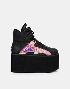 ff2e730d2aa4 Buffalo Black Platform Hi Top Sneakers. Womens Boots On SaleWalk ...