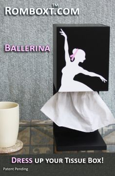 Elegant… The Ballerina is a functional sculpture that changes every time a tissue is dispensed - and even when a breeze passes by. She is poised to be an artful addition to your décor or for the aspir Dance Teacher Gifts, Dance Gifts, Ballet Studio, Dance Studio, Dance Class, Dance Recital, Tissue Box Covers, Tissue Boxes, Vogue Dance