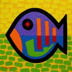 Lucky Fish II Painting - Lucky Fish II Fine Art Print