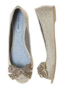 892aaaec3093a 'Gigi' Crystalline Bow Shoe Clips | The Dessy Group Bow Flats, Bow Shoes