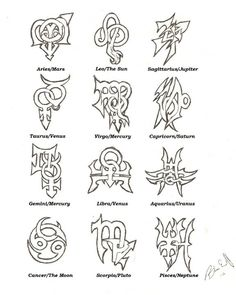 My zodiac tattoo designs.. :) | Bre | Pinterest