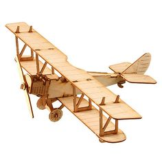 Wooden Model Aircraft Kits Junior Series- Scale models Biplane