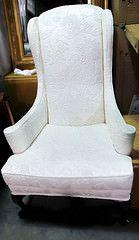 Cream Wingback Chair