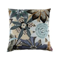 Add eye-catching prints to your home with this Passiflora Giant Print cushion from the Missoni Home 2014 Collection. Featuring a large intricate floral pattern, this cushion is in the 170 colourway...