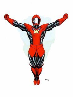 Wildfire, Legion of Super-Heroes (SOLD) Comic Art