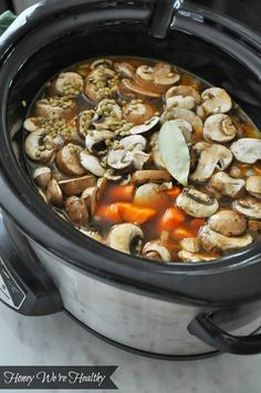 Slow Cooker Lentil Soup - Honey Were Healthy