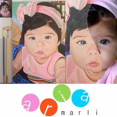 Nursery Wall Art - 8 X 10 | Custom Portrait Acrylic Painting Painted from your Photo by AriaMarliART on Etsy