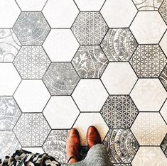 hexagon patterned tiles