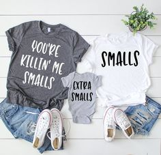 Youre Killing Me Smalls, Youre Killin Me Smalls, Smalls Shirt, Matching Household Shirts, Dad… Source by bilimsitips Look t-shirt Mom And Me Shirts, Best Friend Shirts, Baby Shirts, Kids Shirts, Momma Shirts, Friends Shirts, Onesies, Pregnancy Shirts, Mommy And Me Outfits