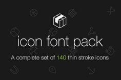 Stroke 7 Icon Font Set