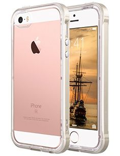 awesome iPhone 5S Case, ULAK iPhone 5S Clear Case Shock Absorption Bumper Frame  Soft TPU Case Cover for Apple iPhone SE / 5S / 5 (Gold) Check more at http://forsaletoday.uk/shop/iphone5/iphone-5s-case-ulak-iphone-5s-clear-case-shock-absorption-bumper-frame-drop-protection-soft-tpu-case-cover-for-apple-iphone-se-5s-5-gold/