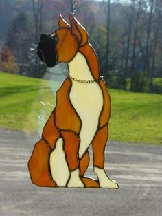 Stained Glass Boxer by StainedGlassbyBetty on Etsy, $50.00
