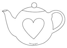 Beautiful Teapot Coloring Page Clever Design Teapot Coloring Page Artsybarksy On Line Art Tea Set Free Printable Teapot Coloring Pages Decorativ Templates Printable Free, Card Templates, Printable Tags, Applique Patterns, Quilt Patterns, Felt Crafts, Paper Crafts, Yarn Crafts, Mothers Day Card Template