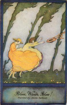 Jennie Harbour ~ vintage Oilette postcard