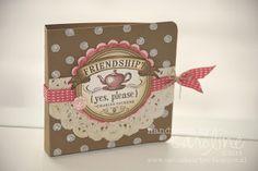 Stampin' Up! Holder  by Caroline van der Straaten at Caro's kaartjes: Friendship? {yes, please} - tea bag holder