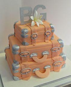 Suitcase wedding cake
