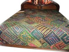 """Kutch Bedspread- Heavy Embroidered Ethnic India Bedding Coverlet Throw Large Wall Hanging Tapestry 80""""x80"""" by Mogul Interior, http://www.amazon.com/dp/B00CE38MYW/ref=cm_sw_r_pi_dp_2cGDrb0A9HNGR"""