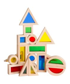 Look what I found on #zulily! Guidecraft Jr. Rainbow Blocks Set by Guidecraft #zulilyfinds
