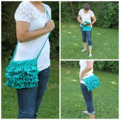 Upcycled T-shirt Tutorial: Ruffled Hip Bag or Cross Body Bag Made from 1 T-shirt