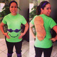 Ninja Turtle pregnancy costume! Easy DIY!
