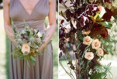 bridesmaid color inspiration~ Champagne Satin Dress by Coralie Beatrix