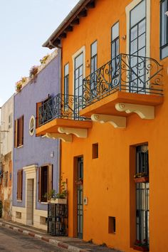 ✮ Typical Coloured Houses, Neve Tzedek, Tel Aviv, Israel