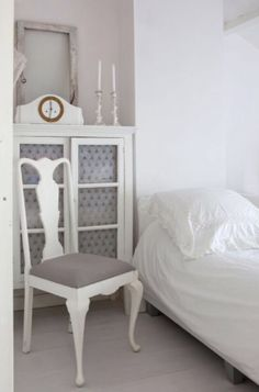 """This fresh and romantic bedroom is from our feature """"Twice as Nice"""""""