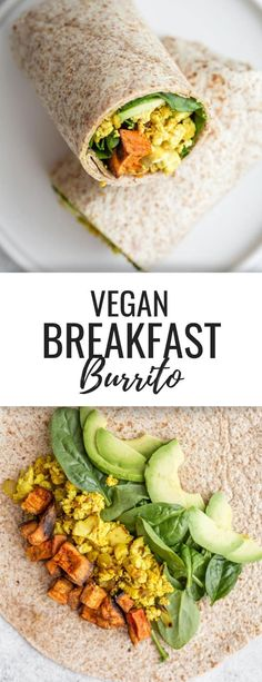 Recipes Breakfast Burritos Burritos are perfect for breakfast or dinner, because they're filling and packed with nutrition. Why not try one of these 10 Delicious Vegan Burrito Recipes? Vegetarian Breakfast, Breakfast For Dinner, Breakfast Recipes, Avocado Breakfast, Healthy Breakfast Burritos, Christmas Breakfast, Sausage Breakfast, Healthy Breakfasts, Breakfast Casserole