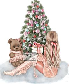 Happy New Year Friends, Best Friend Drawings, Illustration Artists, Christmas Ornaments, Xmas, My Arts, Teddy Bear, Photo And Video, Celebrities