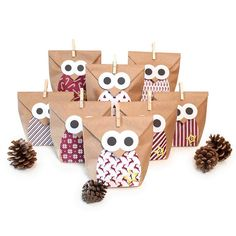 DIY Advent calendar craft kit Christmas owl red, 1 x 24 individually fillable bags with stickers Christmas Trends, Christmas Owls, Christmas Gift Bags, Christmas Countdown, Christmas Crafts, Advent Calenders, Diy Advent Calendar, Staff Gifts, Reindeer Decorations