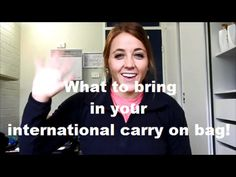 What to pack in your international flight carry on bag! - YouTube