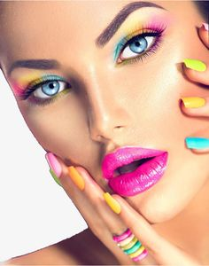Find Beauty Girl Face Vivid Makeup Colorful stock images in HD and millions of other royalty-free stock photos, illustrations and vectors in the Shutterstock collection. Colorful Eyeshadow, Colorful Makeup, Colorful Nail, Girl Face, Woman Face, Circus Makeup, Beauty Makeup, Eye Makeup, Face Care Tips
