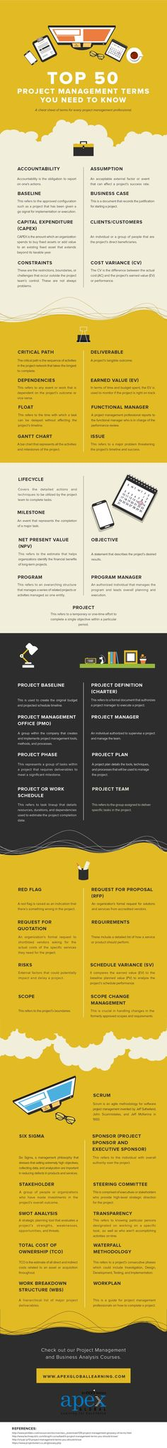 What the most common project management jargon actually mean (#INFOGRAPHIC) #ProjectManagement. Check out that cool T-Shirt here: https://www.sunfrog.com/trust-me-im-an-engineer-NEW-DESIGN-2016-Black-Guys.html?53507