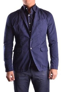 Bikkembergs Men's Blue Cotton Blazer.