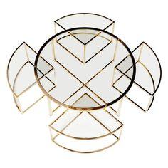 Free Form Coffee Table by Karl Springer www.bocadolobo.com/blog #interiordesign #contemporarydesign #luxuryfurniture