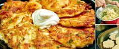 Leckere Kartoffelpuffer mit saurer Sahne