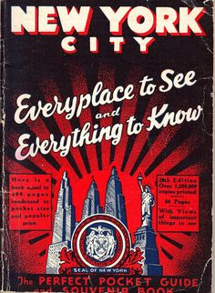 Vintage New York City Pocket Guide  by heritagegeneralstore, $4.99
