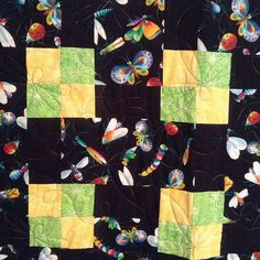 In case y'all are starting to think we only do #tshirtquilts , #longarmquilted this bug quilt using a fun variegated thread!