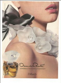 1989 Advertisement Oscar de la Renta Perfume Cologne Fragrance 80s Designer Style Fashion Wall Art Decor