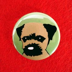 Border Terrier Dog Button Badge by ForeverFoxed on Etsy