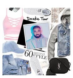 """""""60 Second Style: Drake Tour"""" by chocolate-addicted-angel ❤ liked on Polyvore featuring adidas Originals, Dolce&Gabbana, Abercrombie & Fitch, Yves Saint Laurent, Korres and BOBBY"""