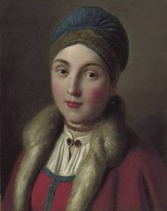 The Athenaeum - Portrait of a woman in a red coat with fur - - - Norton Simon Museum