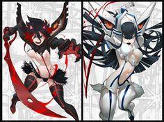 Kawaii Anime Girl, Anime Art Girl, Manga Art, Manga Anime, Character Design Girl, Character Art, Kill A Kill, Gurren Laggan, Disney Marvel