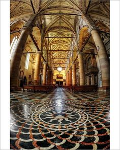 Cathedral Architecture, Gothic Architecture, Dominican Order, Italy Painting, Verona Italy, Thing 1, Northern Italy, Colour Images