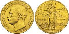 NumisBids: Numismatica Varesi s.a.s. Auction 65, Lot 690 : SAVOIA - VITTORIO EMANUELE III (1900-1946) 50 Lire 1911 Roma...