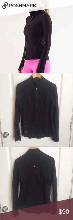 Lululemon Black Define Jacket 12 Good used condition. Some very, very light pilling. No rips or stains. Has hardly been worn. Tag has been removed. Size 12 with size dot in pocket. Retails for $118 + tax.  Price is firm. I always list my items for less on Ⓜ️ercari.   Check out my listings for Lululemon, Nike, Victoria's Secret, Under Armour, Ann Taylor, Lucky Brand, Express and other women's clothing items.   Thank you for looking! lululemon athletica Jackets & Coats