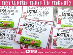 Enjoy this fun printable (boy and girl version) for a quick end of the year gift! Simply print, cut, and attach to a pack of Extra gum!Please be kind and leave feedback!You might also like...Editable End of the Year AwardsEnd of the Year Memory BookEnd of the Year Writing BundlePopcorn Gift Freebie